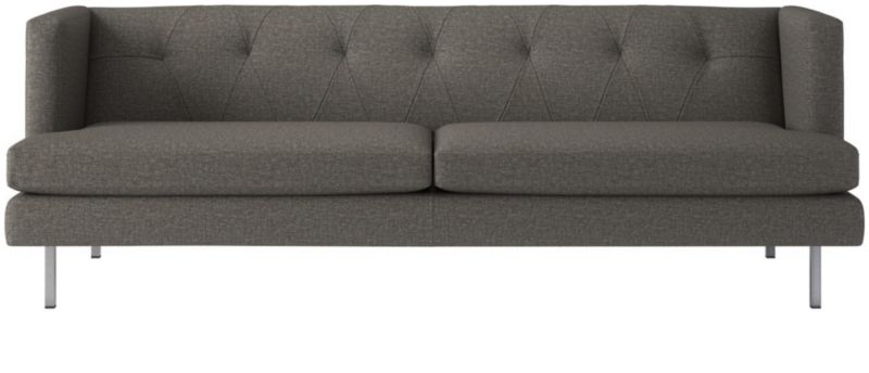 avec tufted grey sofa + Reviews | CB2