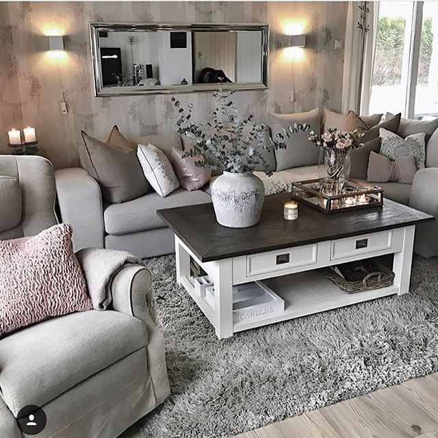 Elegance Grey Living Room Furniture Decorifusta