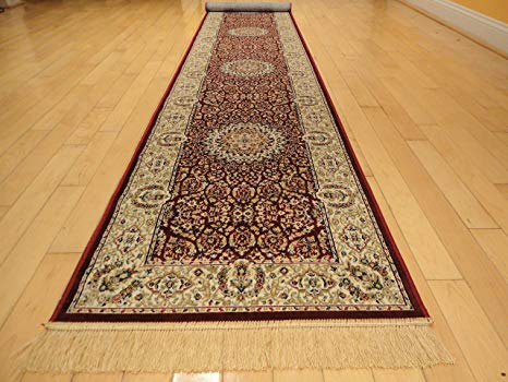Amazon.com: Silk Persian Style Area Rug Long Hallway Stair Runner
