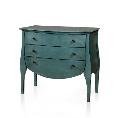 Sun & Pine Jenna French Country 3 Drawer Hallway Table Blue : Target