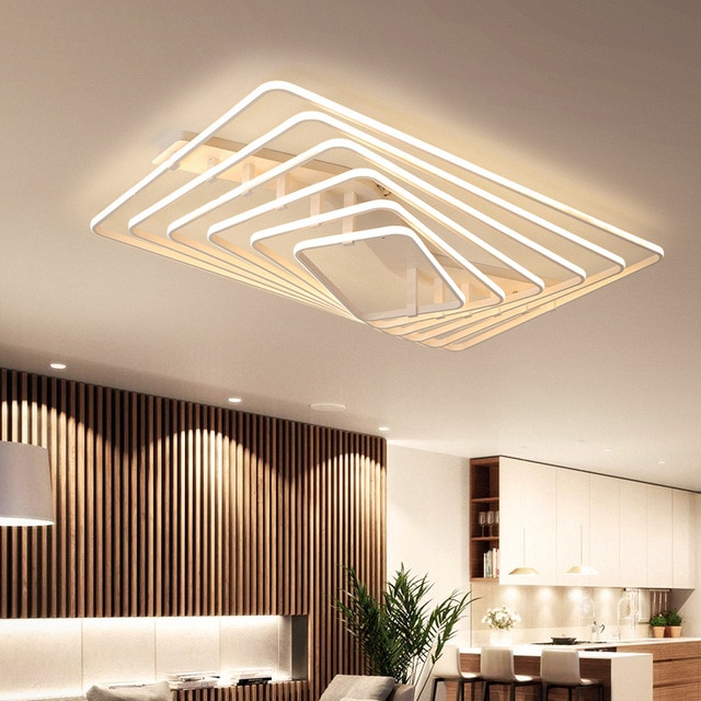 White Square LED light modern Led ceiling lights living room bedroom