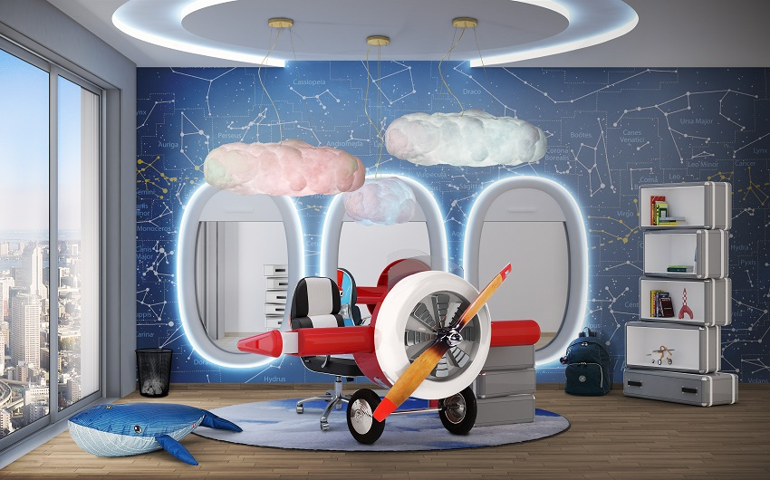 Kids' Room Design - Sky Collection for Little Pilots | Archi-living.com