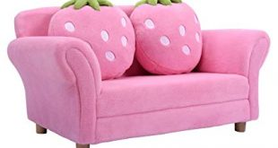 Amazon.com: New Pink Kids Sofa Strawberry Armrest Chair Lounge Couch