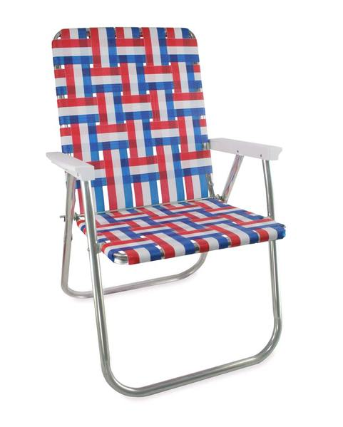 Lawn Chair USA - Old Glory Folding Aluminum Webbing Classic Chair