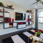 Save space in your room with   living room shelves