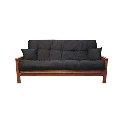 Amazon.com: Futon Cushion Black for Futons or Sleeper Sofas Queen