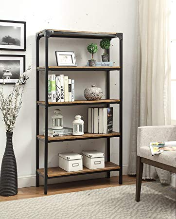 Amazon.com: 5-tier Vintage Brown Industrial Look Black Metal