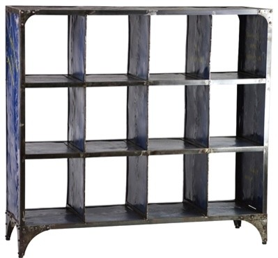 Alchemist Metal Bookshelf - Navy - Industrial - Bookcases - Austin