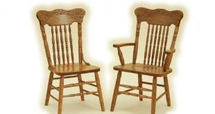Pressed Back Oak Dining Chair from DutchCrafters Amish Furniture