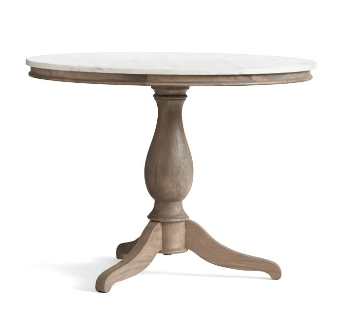 Alexandra Marble Pedestal Dining Table | Pottery Barn