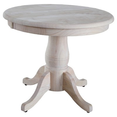 Redefine style by using   pedestal table