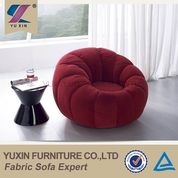 Luxury Velvet Single Wooden Sofa Chair/round Mini Sofa Chair - Buy
