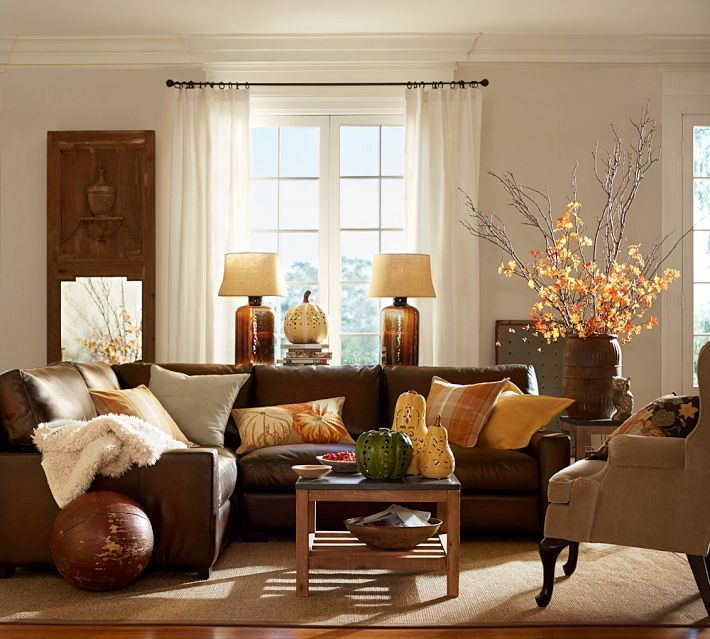 Rustic Rooms | new-LIVING ROOM | Living room decor, Brown leather