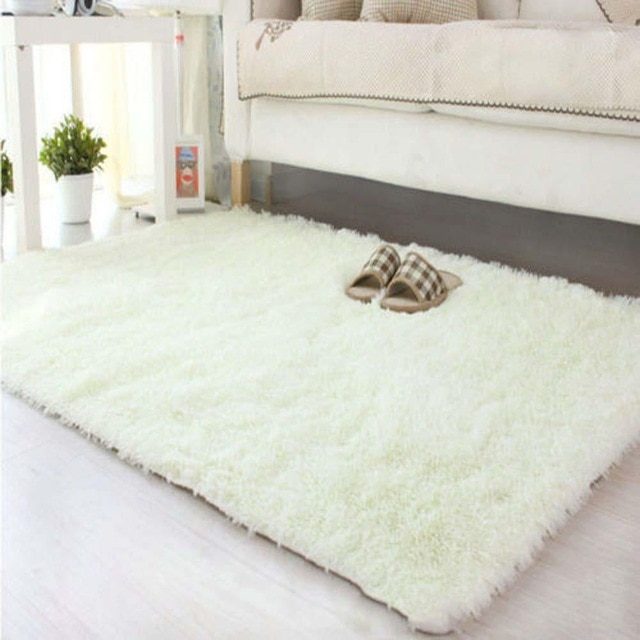 80*120cm Large Size Fluffy Rugs Anti Skiding Shaggy Area Rug Dining