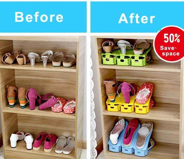 Easy Shoes Organizer-Double your shoe storage space in a snap