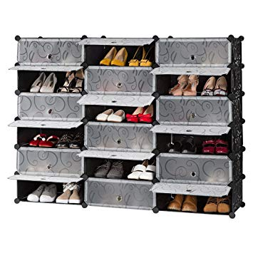 Amazon.com: LANGRIA 18-Cube DIY Shoe Rack, Storage Drawer Unit Multi