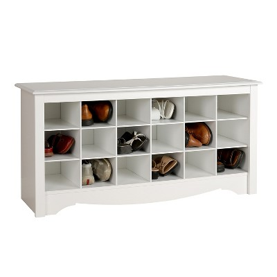 Shoe Storage Cubbie Bench White - Prepac : Target