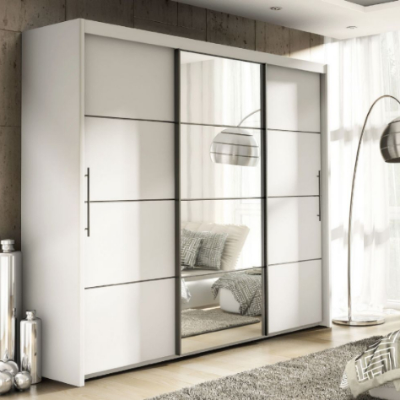 Three Door Sliding Wardrobe Slider 250CM | Furniture Factor