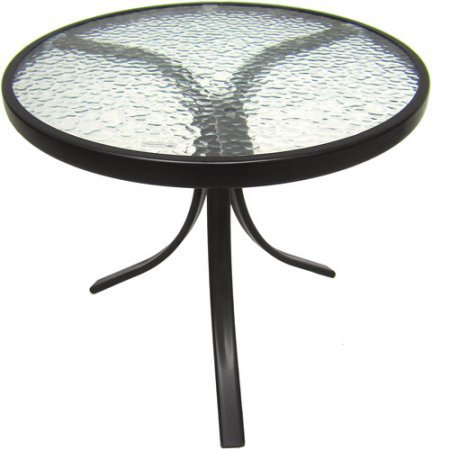 Amazon.com : Outdoor Side Table Black Steel Small Round Tempered