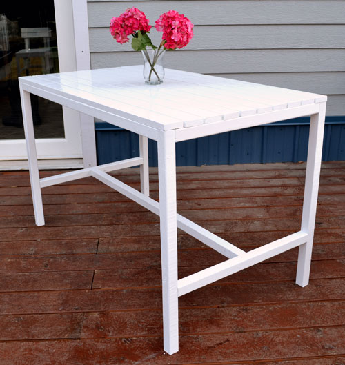 Ana White | Harriet Outdoor Dining Table for Small Spaces - DIY Projects