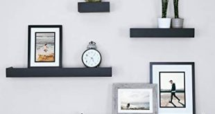 Amazon.com: Ballucci Modern Ledge Wall Shelves, Set of 4, Black