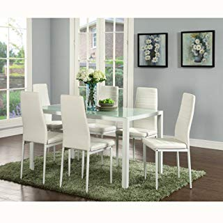 Amazon.com: White - Table & Chair Sets / Kitchen & Dining Room