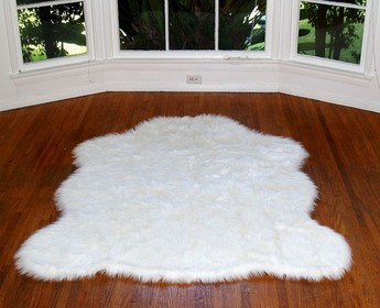 Faux Sheep skin Rug White | Fake Sheep Skin Rug White