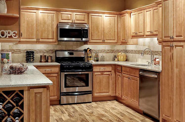 Park Avenue Raised Panel u2013 Honey Maple u2013 Solid Wood Cabinets