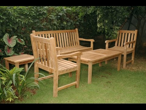 Wooden Patio Furniture~Wooden Outdoor Furniture Australia - YouTube