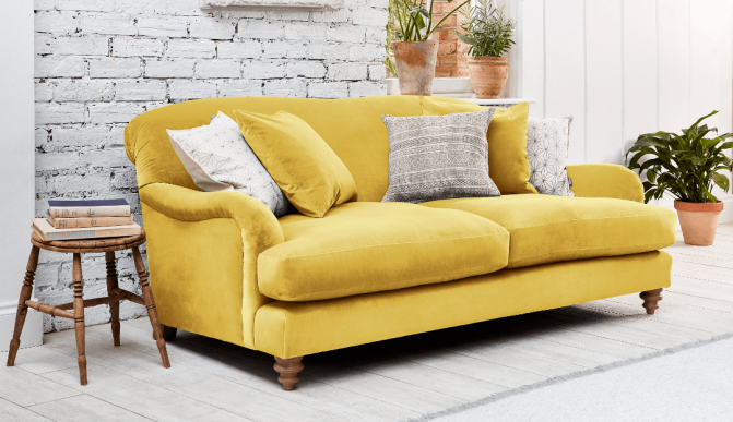 Summer season with a yellow sofa | Darlings of Chelsea