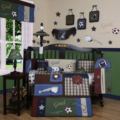 Baby Bedding 13-Piece Crib Bedding Sets with Bumper Included Baby Bundle,Sports
