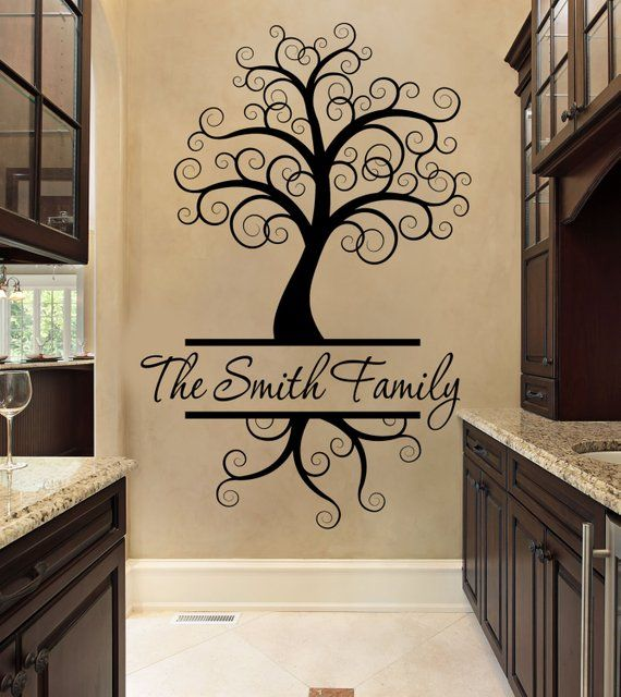 Custom Wall Decal - Black - Wall Decal - Tree