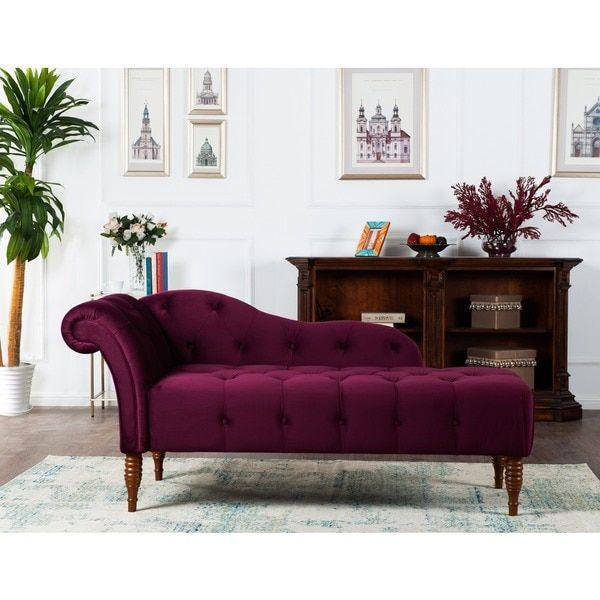 Jennifer Taylor Samuel Tufted Chaise Lounge
