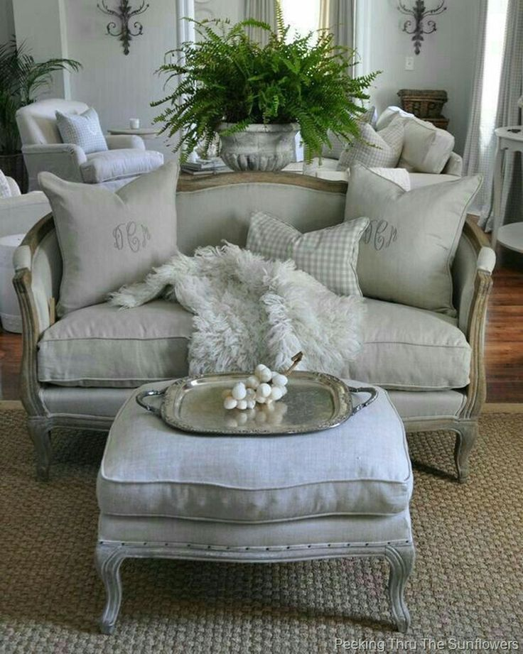 49 Cozy French Country Living Room Decor Ideas