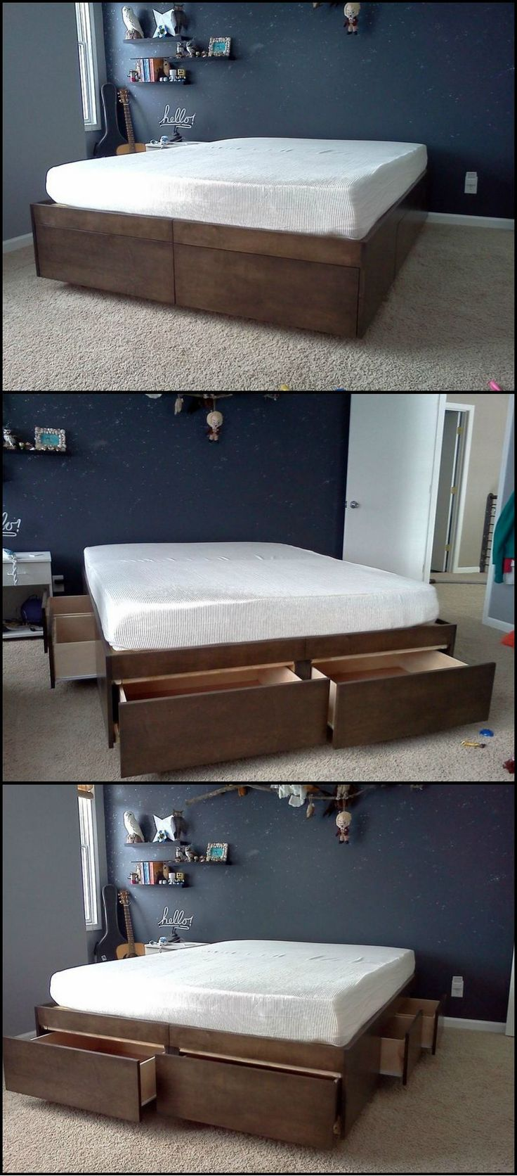Do-It-Yourself Bed With Drawers