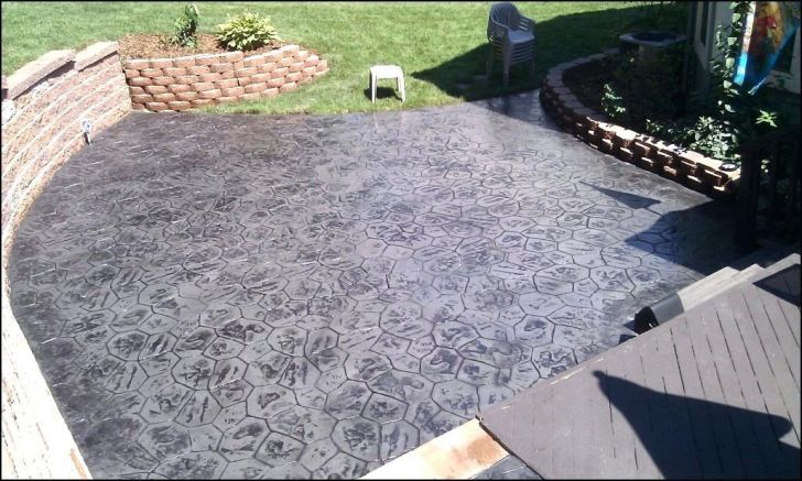 Grey Black Paint For Concrete Patio Slabs