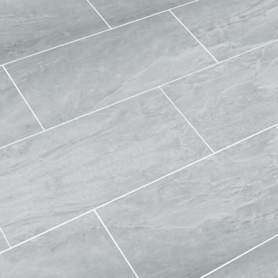 SnapStone Oyster Grey 12 in. x 24 in. Porcelain Floor Tile (8 sq. ft. / case)