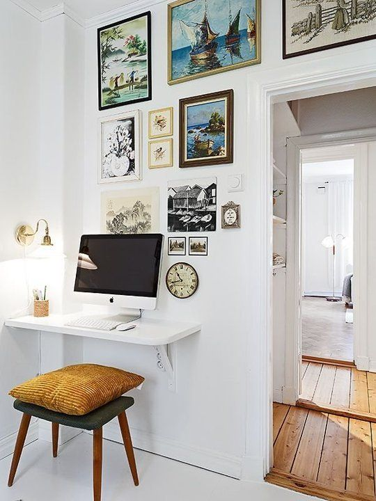 Small Space Solutions: The Wall Mounted Desk