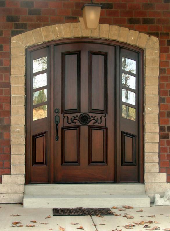 Custom sidelight window treatments