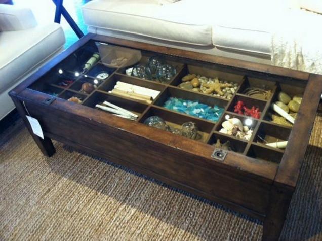 Western Shadow Box coffee table
