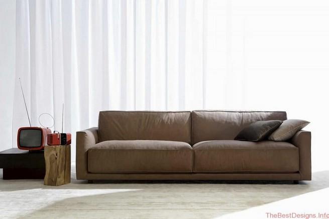 Modern leather sofa Modern living room furniture