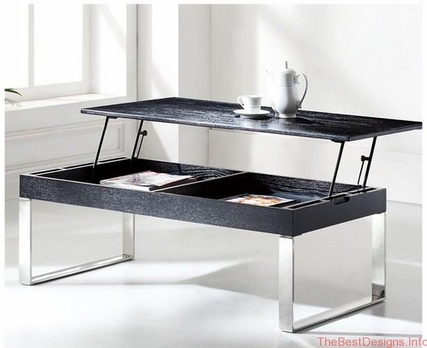 Modern lift top coffee table black