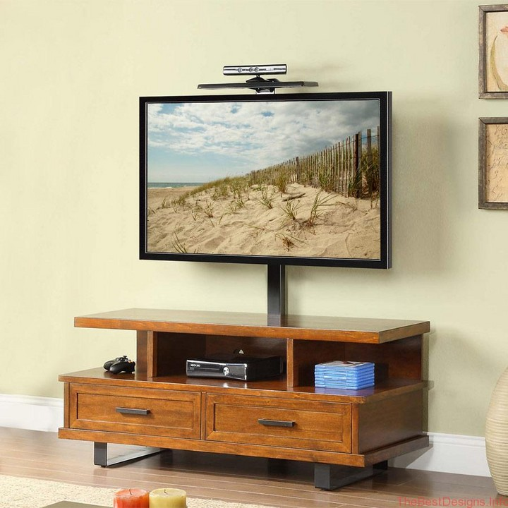 TV stand with rotatable bracket