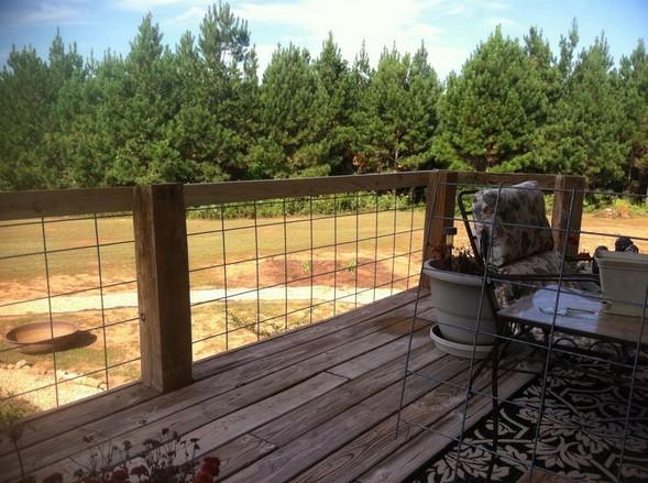 Wire deck railing panels