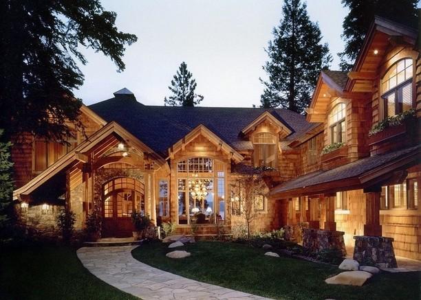 Rustic house design log cabin homes interior