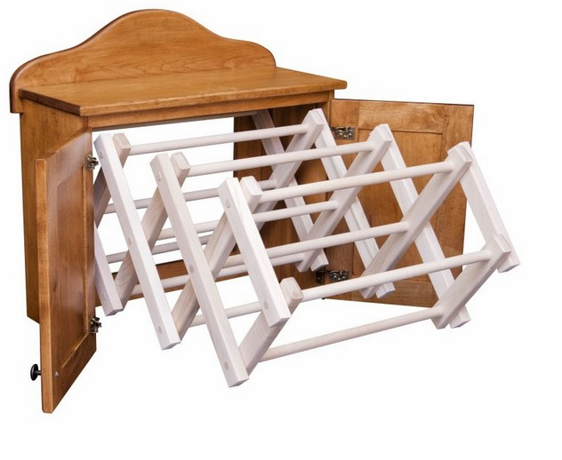 Amish wood clothes dryer