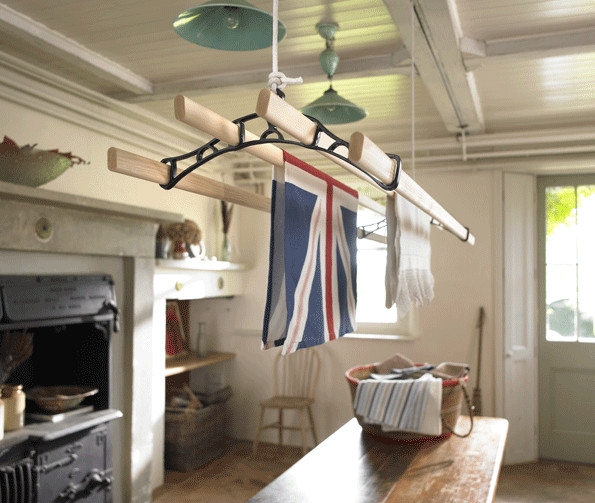 Clothes rack for ceiling mounting
