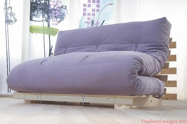 Purple futon sofa bed Fiji