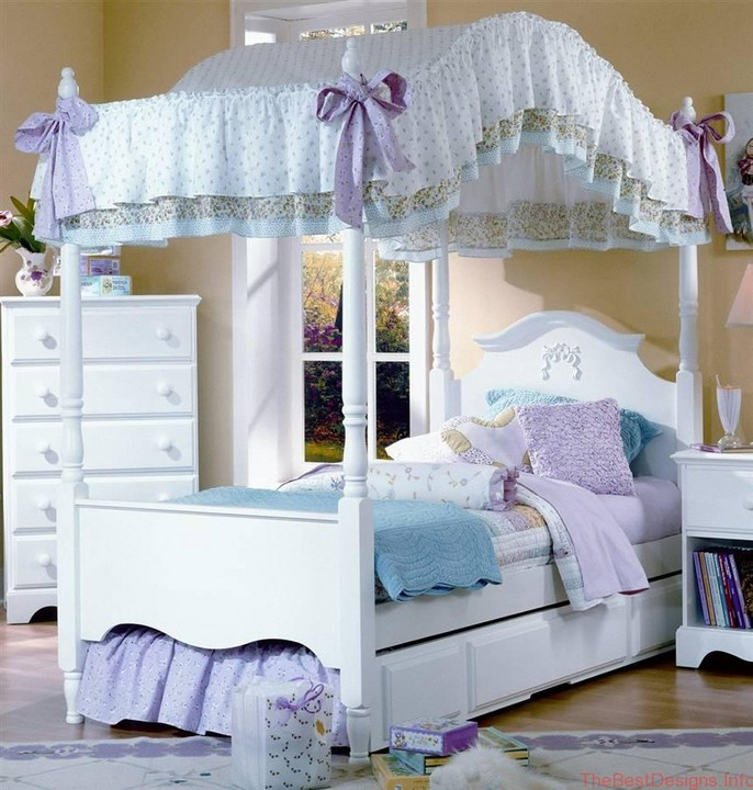 Girls canopy bed king size
