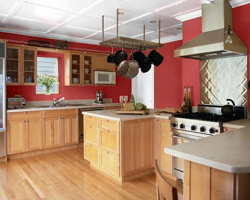 Kitchen lacquer colors red 2